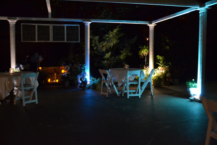 carleton house patio night lights